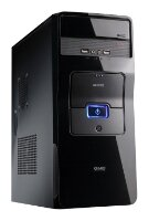 Корпус ПК GMC ECO Black, Middle Tower, USB 3.0, 80mm rear Fan, 300mm video card, black coating, SSD x1, HDD x2, w/o PSU, ATX